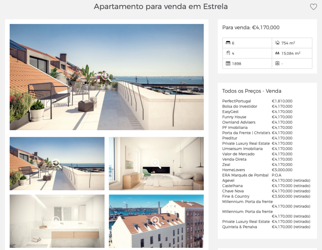 pesquisa angariar imóveis casafari metasearch portugal Lisboa porto